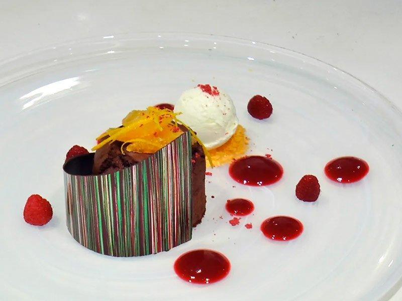 Torta de Chocolate y naranja. Cunard