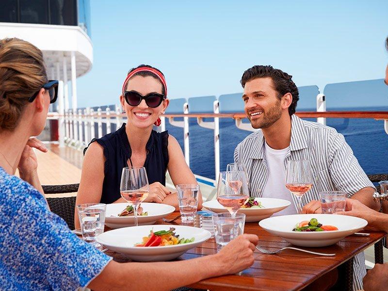 Cunard Almuerzo en cubierta al aire libre