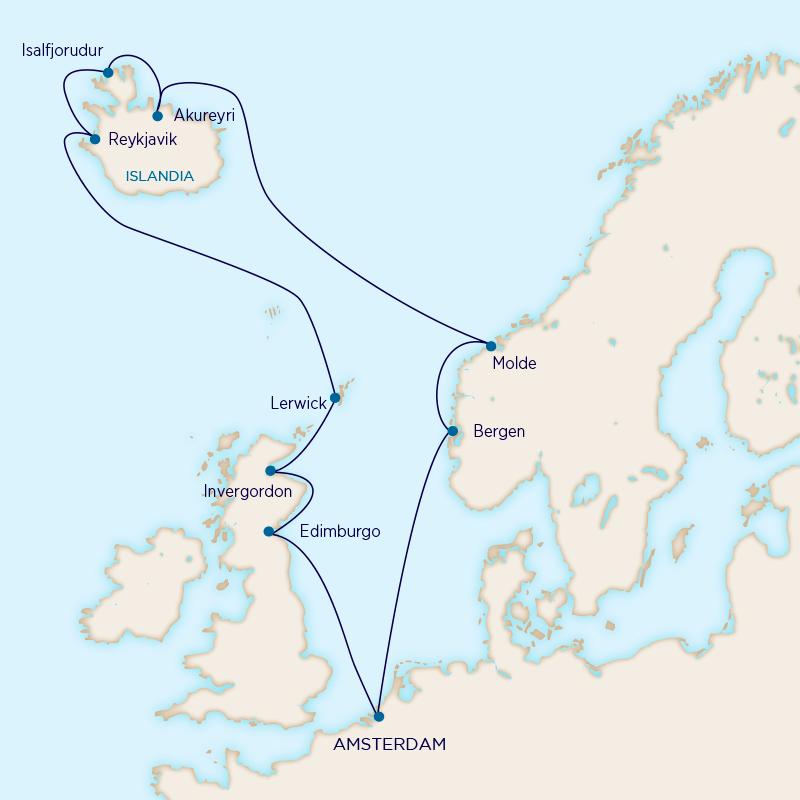 Islas del Norte - Holland America