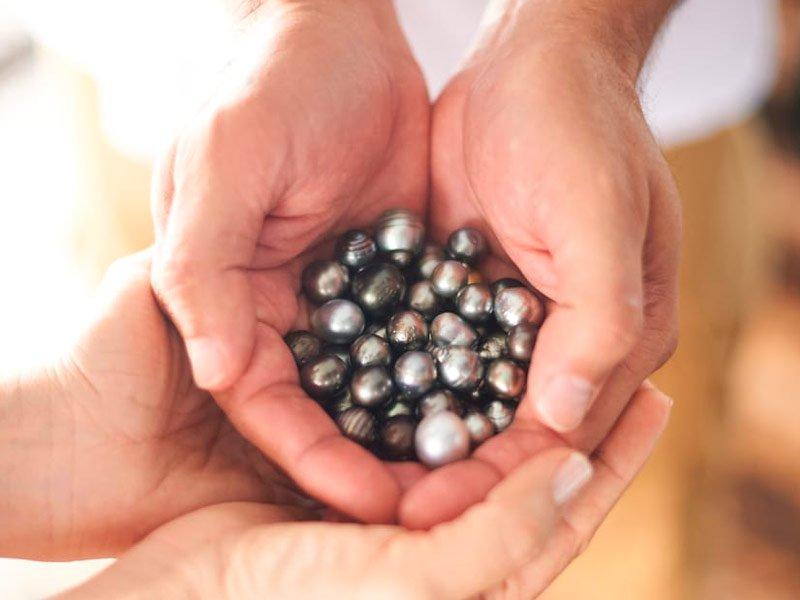 Perlas negras en Tahiti