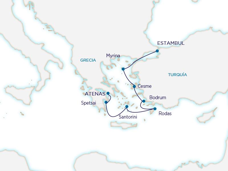 Seabourn Mediterráneo - Estambul Atenas
