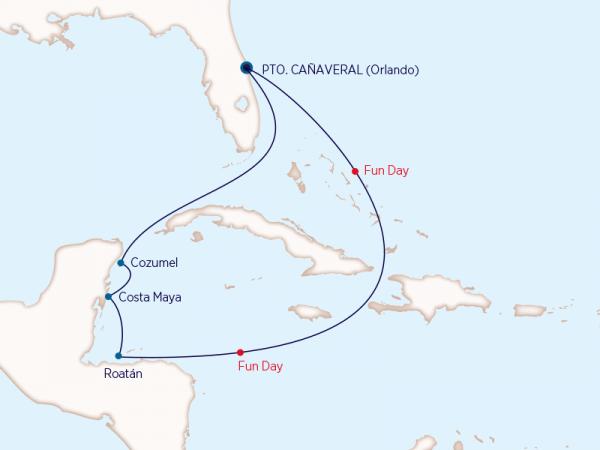 Carnival - Caribe - 7 noches desde Orlando