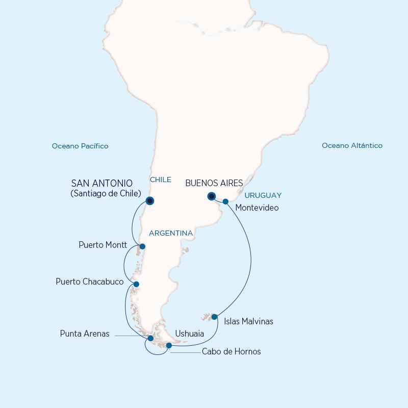 Patagonia y Fiordos, Holland America Line 2021-2023