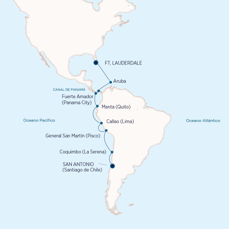 Sudamérica, Holland America Line 2021-2023