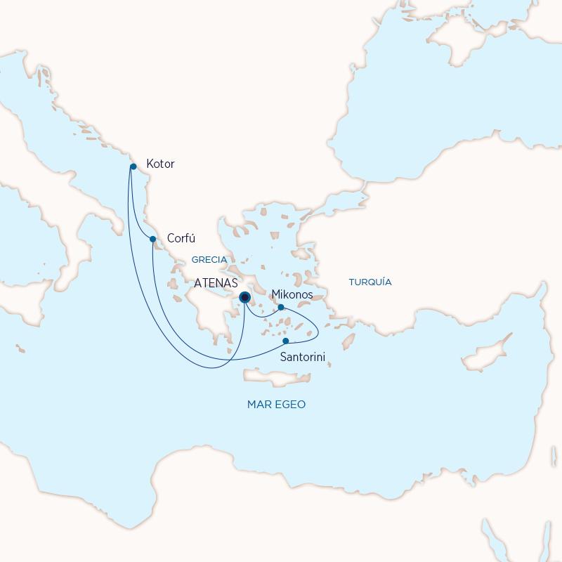 Grecia con Holland - 2021 - Islas Griegas