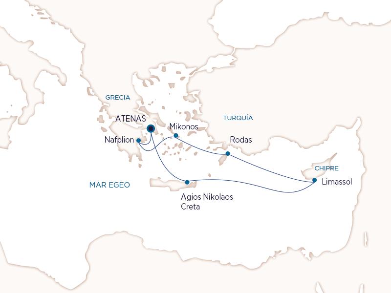 Grecia con Seabourn - Ruta Corazon del Egeo