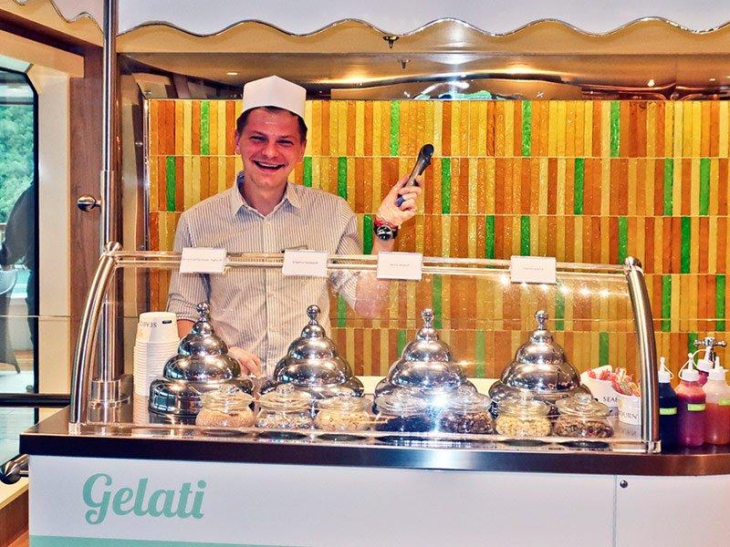 Gelato italiano original Seabourn